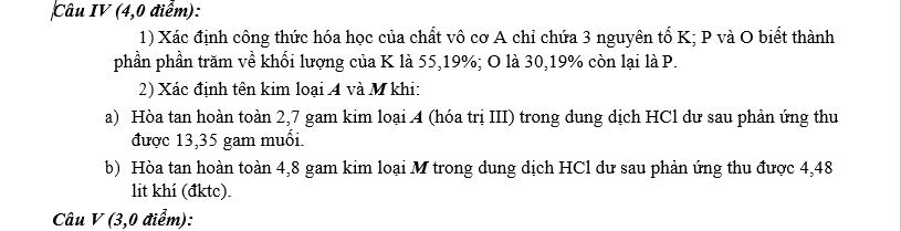 Đề thi hsg hóa 8 huyện Gia Viễn - Ninh Bình năm 2014