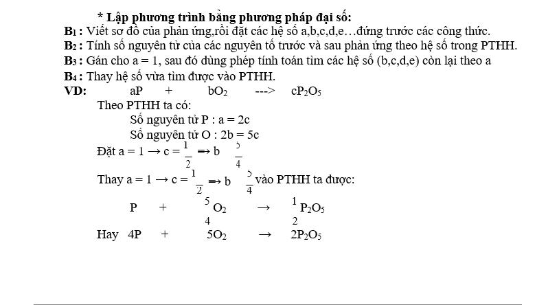 Chuyên đề phương trình hóa học