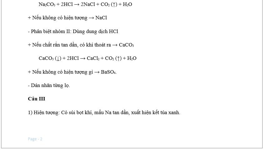 Đề thi vào lớp 10 môn hóa - Đề số 01