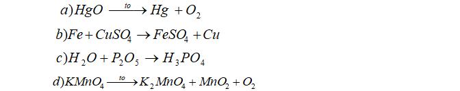 Đề thi học kì 2 Hóa 8 đề số 11