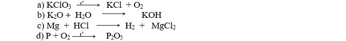 Đề thi học kỳ 2 môn hóa 8 đề số 07