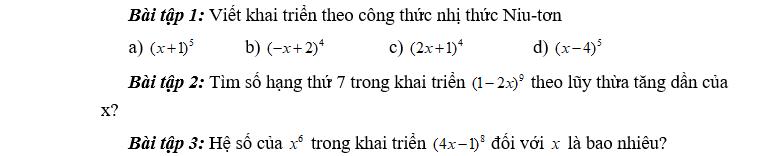 Kế hoạch bài dạy module 2 môn Toán THPT