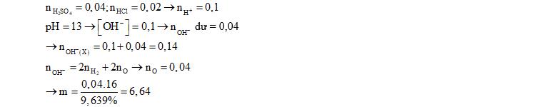 Cho m gam hỗn hợp gồm Na, Na2O, Ba, BaO (trong đó oxi chiếm 9,639% khối lượng) tác dụng với một lượng dư H2O, thu được 0,672 lít H2 (đktc) và 200 ml dung dịch X